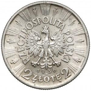 Piłsudski 2 złote 1936 - rzadki rok
