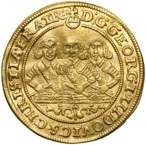Śląsk, Trzej Bracia, Dukat 1657, Brzeg - ŁADNY