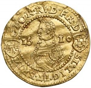 Śląsk, Jan Chrystian i Jerzy Rudolf, Dukat 1610, Złoty Stok - RZADKI