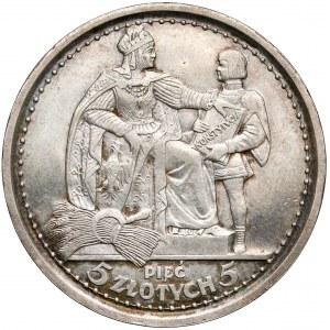 Konstytucja 5 złotych 1925 - 81 perełek - RZADKA i b.ładna