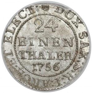 August III Sas, 1/24 talara 1756 FWóF, Drezno