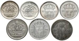 Szwecja, od 10 do 25 ore 1875-1961, zestaw (7szt)