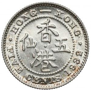 Hong-Kong, Jerzy V, 5 centów 1932