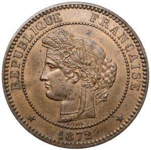 Francja, 10 centimes 1872 A-Paryż