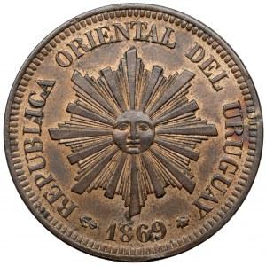 Urugwaj, 2 centesimos 1869