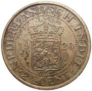 Indonezja (Netherlands East Indies), 2-1/2 centa 1920