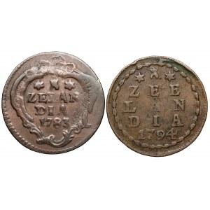 Niderlandy, 1 duit 1783-1784, zestaw (2szt)
