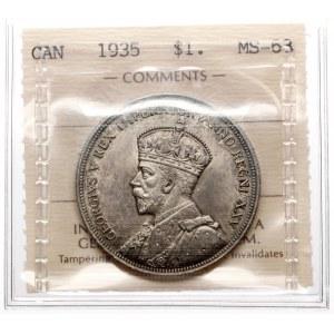 Kanada, Jerzy V, Dolar 1935