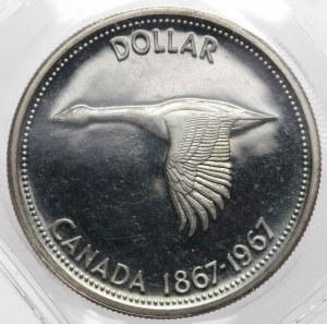 Kanada, Elżbieta II, Dolar 1967 - 100 rocznica utworzenia Kanady