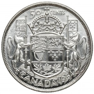 Kanada, Elżbieta II, 50 centów 1954