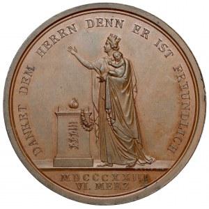Wirtembergia, Wilhelm I, Medal 1823 - narodziny księcia Karola