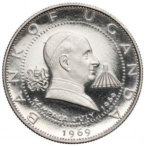 Uganda, 2 szylingi 1970 - Wizyta papieża