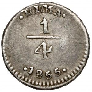 Peru, Lima, 1/4 reala 1855