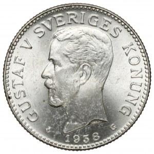 Szwecja, Gustaw V, 2 korony 1938