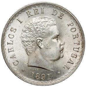Portugalia, Karol I, 500 reis 1891