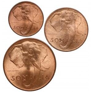 Somalia, od 1 do 10 centesimo 1950, zestaw (3szt)