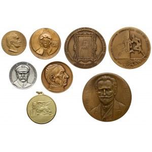 Medale Wyszyński, Żeromski, Piłsudski... (8szt)