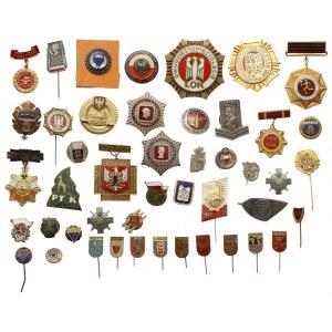 PRL, zestaw odznak MIX (46szt)