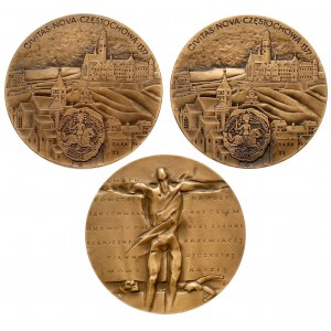 Medale Częstochowa i Gmach Teatru (3szt)
