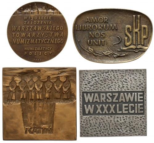 Medale / plakiety, Beyer, Katyń, SKP, Warszawa (4szt)