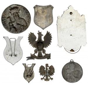 Zestaw medalionów i ryngrafów religijnych (8szt)