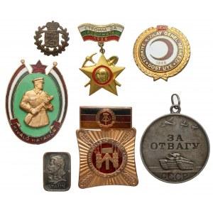 ZSRR, zestaw odznak MIX (7szt)
