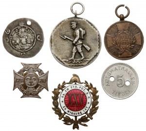 Zestaw monet i medali (6szt)