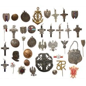 Duży zestaw odznak, guzików i przypinek (38szt)