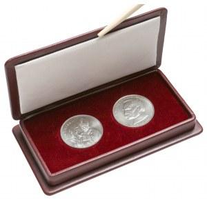 10.000 i 50.000 zł 1987-88 Jan Paweł i Piłsudski - w etui