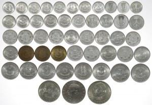 Niemcy, DDR, od 1 feniga do 20 marek - duży zestaw (50szt)