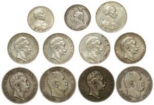 Niemcy, Prusy, 2 - 5 marek 1876-1913 (11szt)