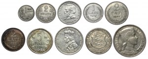 Litwa, Łotwa, Estonia, srebrne monety (10szt)