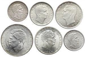 Rumunia, od 100 do 2500 lei 1941-1946, zestaw (6szt)