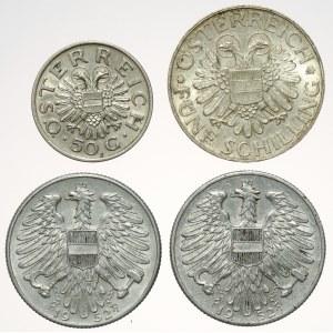 Austria - zestaw monet 1934-1952 (4szt)