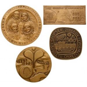 Plakieta Banku Handlowego i medale PRL (4szt)