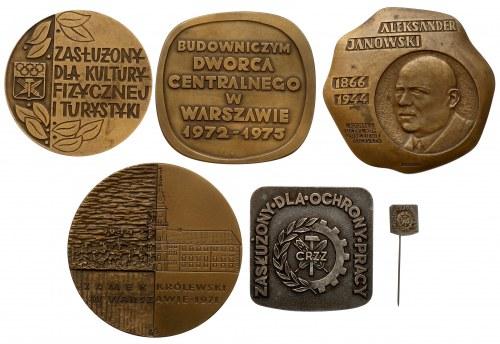 Medale Janowski, Zamek Królewski, Zasłużony... i przypinka (5szt)