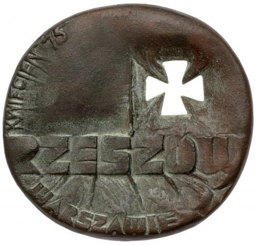 Medal Panorama trzydziestolecia - Rzeszów Warszawie, kwiecień '75.
