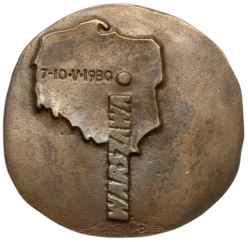 Medal, Przeciw faszyzmowi, za pokojem. Warszawa 7-10.V.1980