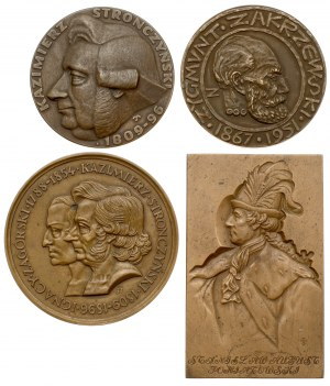 Numizmatycy i numizmatyka - zestaw, plakieta i medale (4szt)