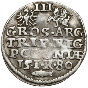 Stefan Batory, Trojak Olkusz 1580 - Glaubicz i IR - rzadkość