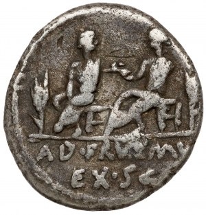L. Calpurnius Piso oraz Q. Servilius Caepio (100 p.n.e.) Denar
