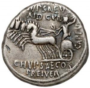 Republika, M. Aemilius Scaurus i P. Plautius Hypsaeus (58 p.n.e.) Denar