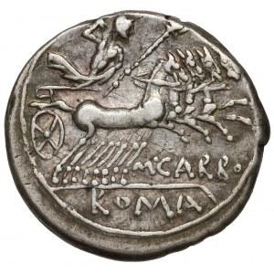 Republika, M. Carbo (122 p.n.e.) Denar