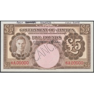 Jamaica, 5 Pounds 1957 - CANCELLED