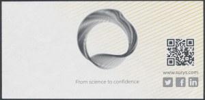 SURYS, banknot testowy hologram 100