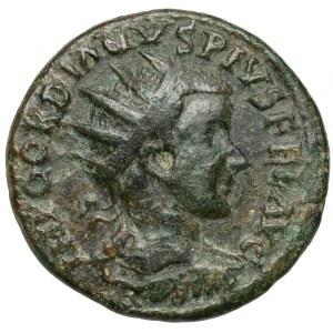 Gordian III (238-244 n.e.) Moesia Superior, Viminacjum, AE Dupondius