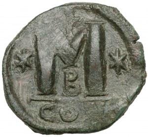 Justynian I (527-565 n.e.) Follis, Konstantynopol