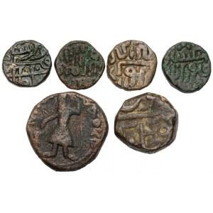 Indie i Kuszanie, zestaw monet (6szt)