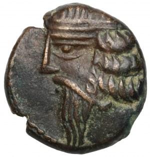 Indo-Partowie, Sanabares (~I w. n.e.) AE Drachma