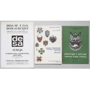 Odznaki Piechoty 1921-39, LWP i katalog DESA (3szt)
